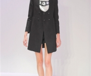 Carven Spring 2012 in black coat