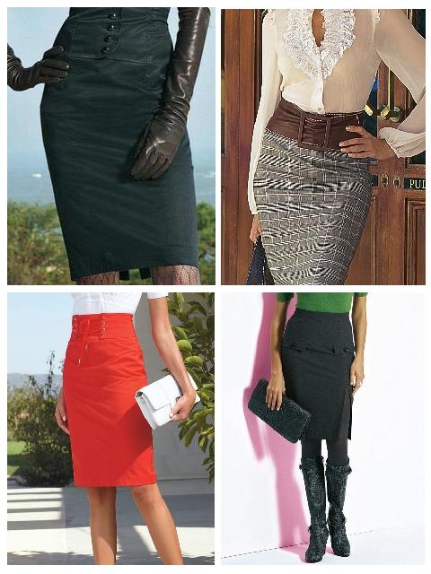 Универсальная юбка карандаш. Как и с чем носить Фото