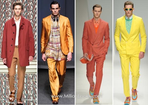 Горячие цвета в мужской одежде  весна / лето 2013  Фото