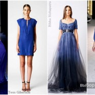 Темно-синее платье и его универсальность