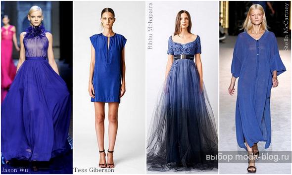 Темно синее платье и его универсальность Фото