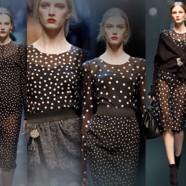 Как носить и сочетать одежду в горошек
