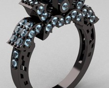 Кольцо из черного золота