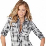 Стильные клетчатые рубашки для самых модных дам