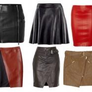 Кожаные юбки в женском гардеробе