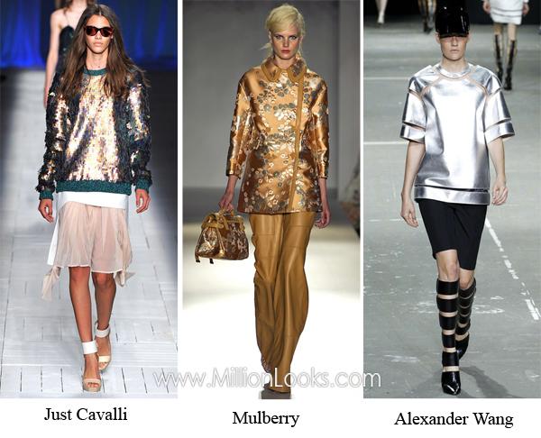 Металлик   модный тренд  2013  Фото