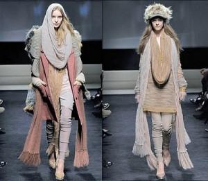 История моды, стили и дизайнеры. Свитер пальто     Фото