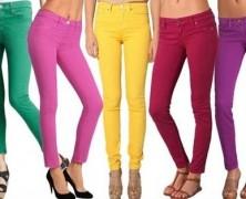 Цветные джинсы для подростков и молодежи