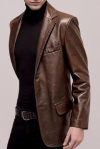 Кожаные пиджаки для мужчин Фото