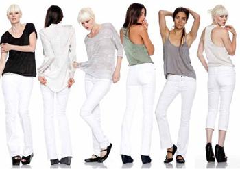Как и с чем носить белые джинсы Фото