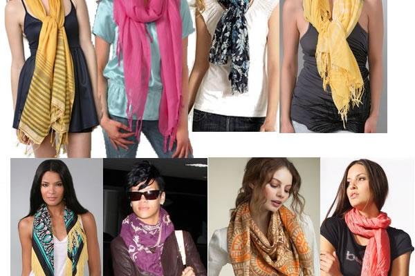 Модные шарфы и как их носить фото